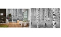 Brewster Home Fashions Birch Forest Wall Mural
