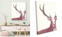 """Creative Gallery Prince Of The Forest - Deer Rose 16"""" X 20"""" Canvas Wall Art Print"""
