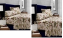 Tribeca Living Maui Floral Printed 300 Thread Count Percale Extra Deep Pocket Twin XL Sheet Set