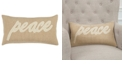 "Rizzy Home 11"" x 21"" Typography Down Filled Pillow"