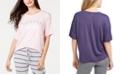 Jenni Ultra Soft Core Printed Short Sleeve Pajama Shirt, Created for Macy's