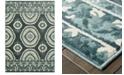"Oriental Weavers CLOSEOUT!  Jayden 7415B Blue/Ivory 3'10"" x 5'5"" Area Rug"