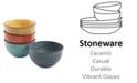 """Laurie Gates Color Speckle 4 Piece 5.25"""" Cereal Bowl Set"""
