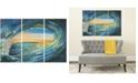 Safavieh Blue Grotto Triptych Wall Art in Multi
