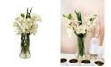 Nearly Natural Cymbidium Orchid w/Vase