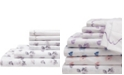 Elite Home Spring Meadow Print/ Embroidered King Sheet Sets