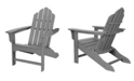 """Hanover All-Weather Contoured Adirondack Chair - 37.5"""" x 29.75"""" x 37"""""""