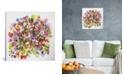 "iCanvas ""Beach Peas"" By Kim Parker Gallery-Wrapped Canvas Print - 37"" x 37"" x 0.75"""