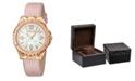 Roberto Cavalli By Franck Muller Women's Swiss Quartz Pink Leather Strap Watch, 34mm
