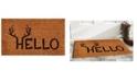 """Home & More Antler Hello 24"""" x 36"""" Coir/Vinyl Doormat"""
