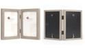 "Lawrence Frames Hinged Double Gray Wood Picture Frame - Gallery Collection - 4"" x 6"""