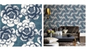"""Brewster Home Fashions Fanciful Floral Wallpaper - 396"""" x 20.5"""" x 0.025"""""""