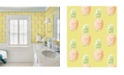 "Brewster Home Fashions Copacabana Pineapple Wallpaper - 396"" x 20.5"" x 0.025"""