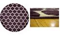 Bridgeport Home Arbor Arb1 Purple 8' x 8' Round Area Rug