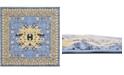 Bridgeport Home Charvi Chr1 Light Blue 8' x 8' Square Area Rug