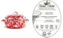 Golden Rabbit Red Swirl Enamelware Collection 4 Quart Dutch Oven