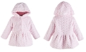 First Impressions Baby Girls Heart Plush Coat, Created for Macy's