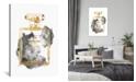 "iCanvas Perfume Bottle, Gold & Grey by Amanda Greenwood Wrapped Canvas Print - 26"" x 18"""