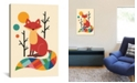 """iCanvas Rainbow Fox by Andy Westface Wrapped Canvas Print - 40"""" x 26"""""""