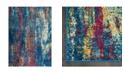 "Global Rug Designs CLOSEOUT! Global Rug Design Venus VEN10 Blue 6'6"" x 9'6"" Area Rug"