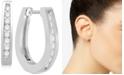 Macy's Diamond Hoop Earrings (1/4 ct. t.w.) in 14k White Gold or 14k Gold