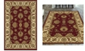 """KM Home CLOSEOUT! 1330/1230/BURGUNDY Navelli Red 3'3"""" x 5'4"""" Area Rug"""