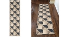 "KM Home CLOSEOUT! 3794/1003/GrayBONE Imperia Gray 2'2"" x 7'7"" Runner Rug"
