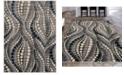 "KM Home CLOSEOUT! 3795/1021/Gray Imperia Gray 5'3"" x 7'3"" Area Rug"