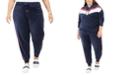 Tommy Hilfiger Plus Size Velour Varsity-Panel Jogger Pants