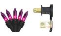 "Northlight Set of 35 Purple Mini Christmas Lights 2.5"" Spacing - Black Wire"