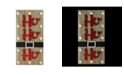 """Northlight 15.75"""" Pre-Lit LED Brown and Red """"HO HO HO"""" Santa Belt Battery Operated Wall Decor"""
