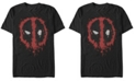 Fifth Sun Marvel Men's Deadpool Splatter Icon, Short Sleeve T-Shirt