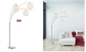 """Artiva USA Lumiere IV 80"""" LED Crystal Arched Floor Lamp with Dimmer"""