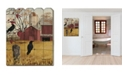"""Trendy Decor 4U Autumn Gold by Billy Jacobs, Printed Wall Art on a Wood Picket Fence, 16"""" x 20"""""""