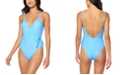 Jessica Simpson On the Spot Printed Side-Tie One-Piece Swimsuit