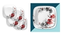 Corelle Boutique 10.5 Inch Dinner Plate Chelsea Rose 4 Pack