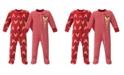 Hudson Baby Girl and Boy Fleece Sleep and Play 2 Pack
