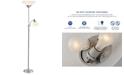 Adesso Piedmont Steel Torchiere Floor Lamp