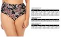 Raisins Curve Trendy Plus Size Juniors' Wild Romance Printed Costa Tummy Control High-Waist Bottoms