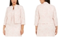 Kasper Plus Size Floral Jacquard Jacket