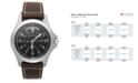 Hamilton Watch, Men's Swiss Automatic Khaki King Brown Leather Strap 40mm H64455533