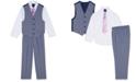 Nautica Toddler Boys 4-Pc. Glen Plaid Vest Set