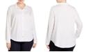Eileen Fisher Plus Size Organic Cotton Classic Shirt