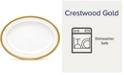 Noritake Crestwood Gold Oval Platter