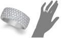 Macy's Arabella Sterling Silver Ring, Swarovski Zirconia Pave Band