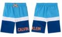 Calvin Klein Big Boys Colorblocked Logo Swim Trunks