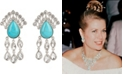 Grace Kelly Collection Rhodium Plated Drop Pierced Earring