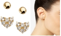 AVA NADRI 2-Pc. Set Crystal Heart Stud Earrings