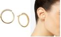 AVA NADRI Crystal Wrap-Around Hoop Earrings