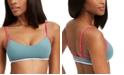 Roxy Juniors' Swim In Love Colorblocked Bralette Bikini Top